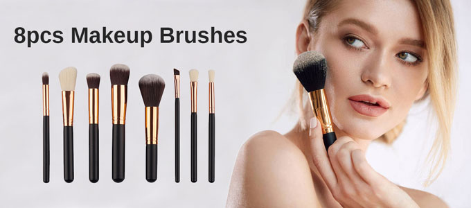 8pc Makeup Brushes
