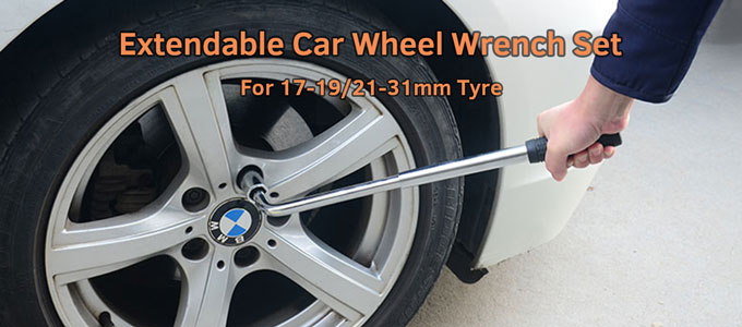 Extendable Car Wheel Wrench Set