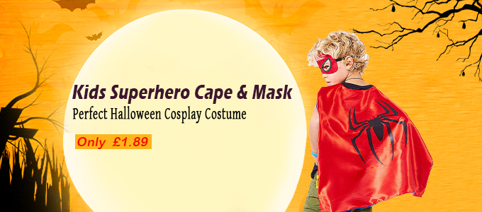 kids superhero cape mask