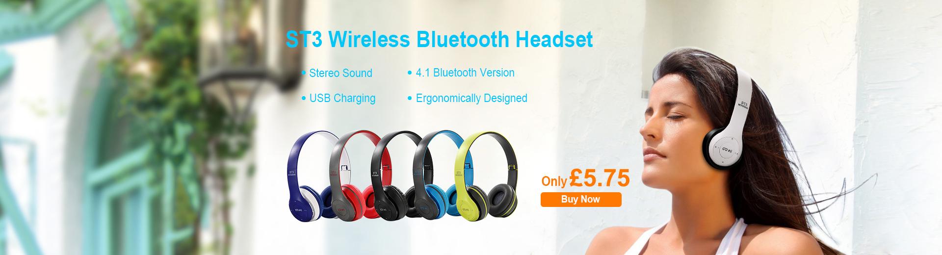 ST3 Wireless Bluetooth Headset