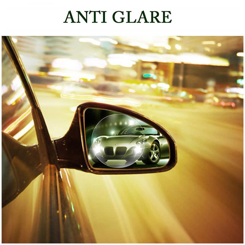 2pcs Round Car Rearview Mirror Protective Sticker Window Anti-fog Waterproof Shield Film
