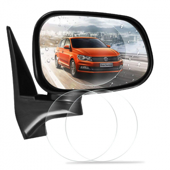 2pcs Round Car Rearview Mirror Protective Sticker Window Anti-fog Waterproof Shield Film