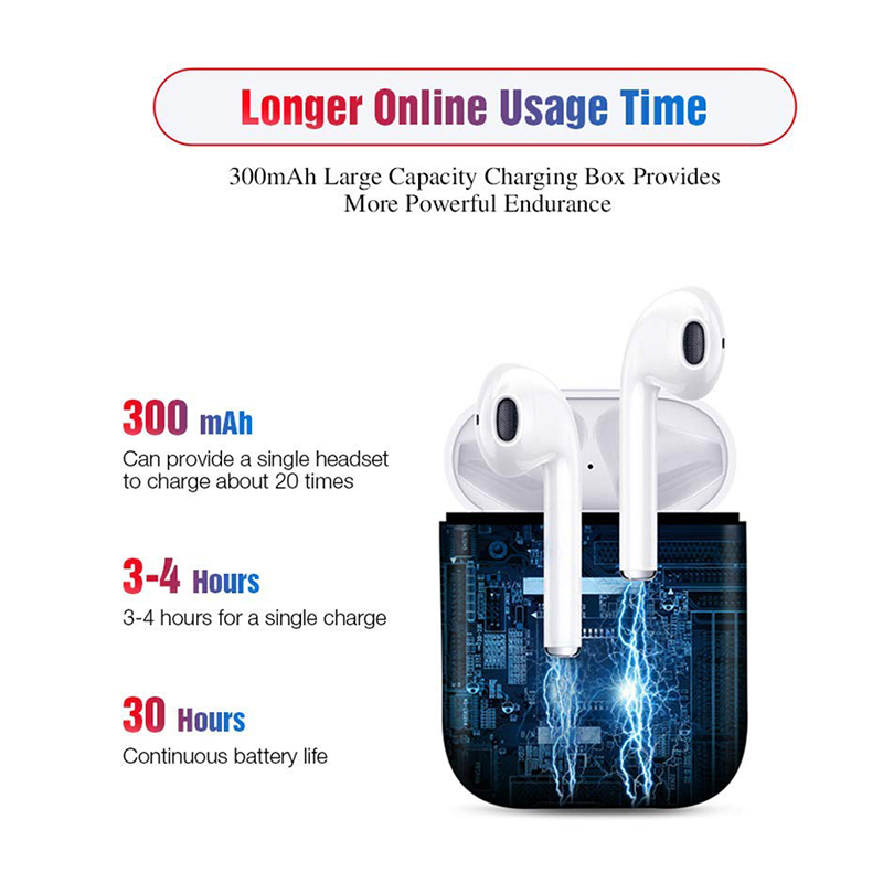 i12 TWS Bluetooth 5.0 Wireless Earphones Smart Touch Control Earbuds Headphones with Case