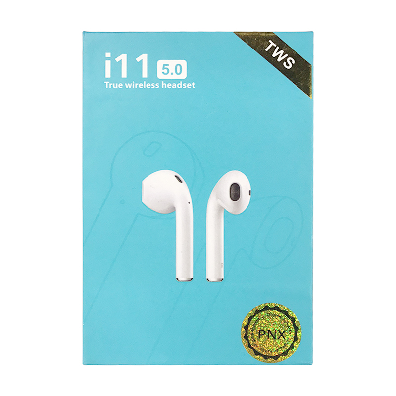 i11 TWS Bluetooth 5.0 Wireless Headphones Smart Touch Control Earphones Earbuds with Case - White