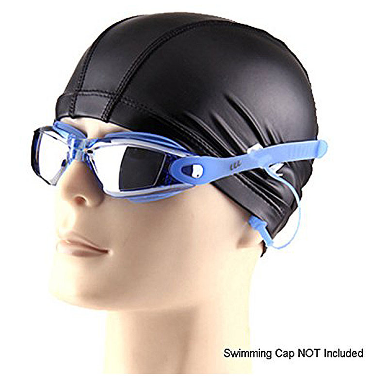 Waterproof Anti-fog Swimming Goggles UV Protected Silicone Swim Glasses with Earplugs for Water Sports - Blue