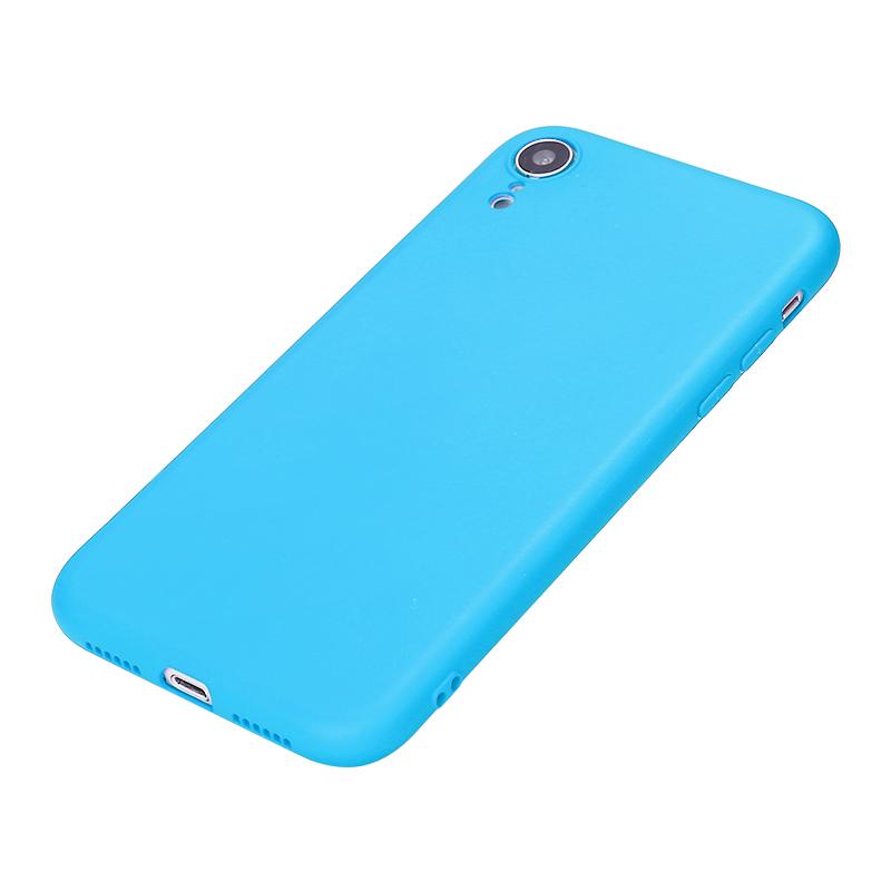 Ultra Thin Slim TPU Gel Skin Cover Shell Phone Case for iPhone XR - Blue