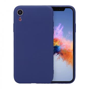 Ultra Thin Slim TPU Gel Skin Cover Shell Phone Case for iPhone XR - Navy Blue