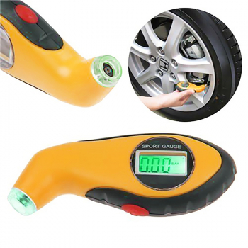 LCD Display Digital Tyre Air Pressure Gauge for Auto Car Motorcycle