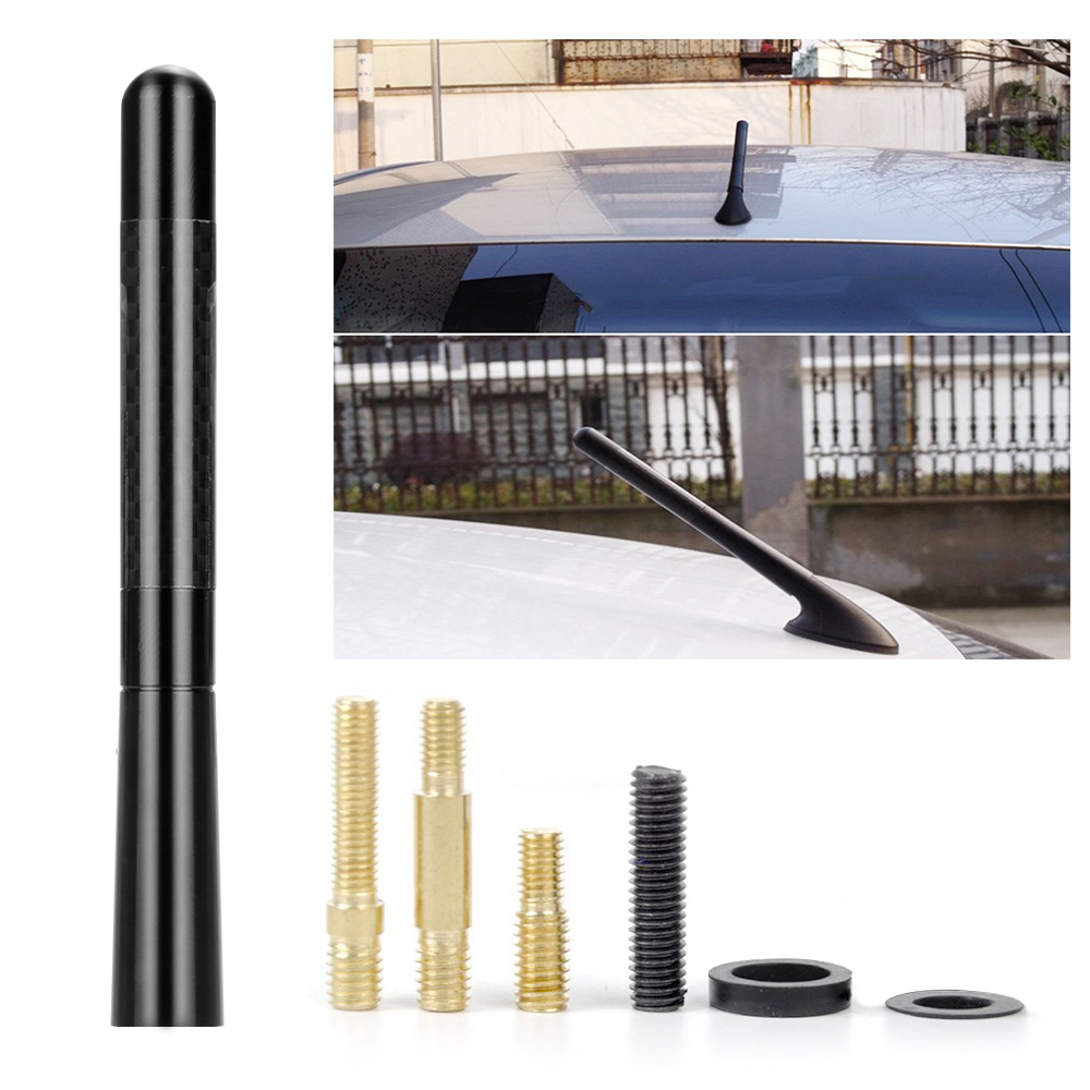 Car Bee-sting Stubby Short Black Carbon Fibre Aeroal Aerial Mast Antenna Wire
