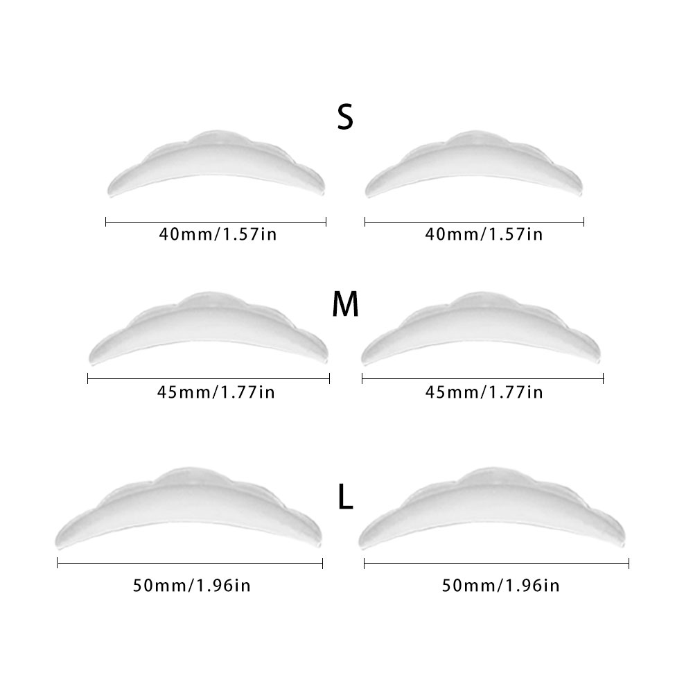 3 Pairs/Pack Silicone Eyelashes Lift Lifting Curlers Lash Shields Pads