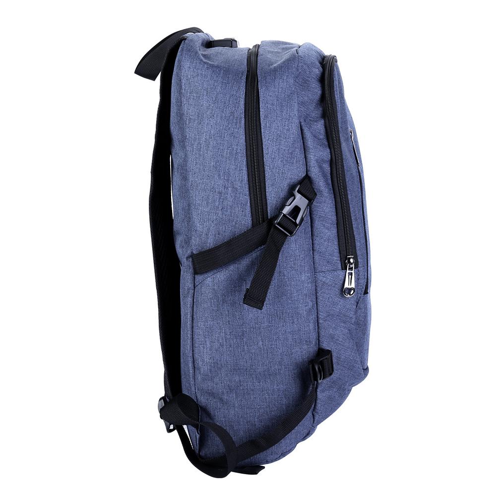 Mens Womens Laptop Backpack Rucksack Work Travel School Bags with USB Charging Port Headphone Jack - Blue