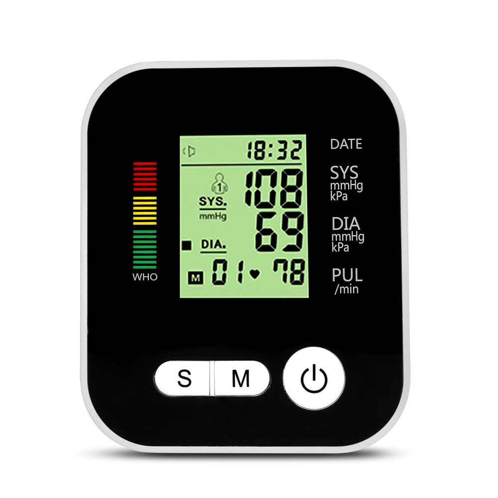 Digital Automatic Blood Pressure Monitor Meter Upper Arm Intellisense 180 Memory