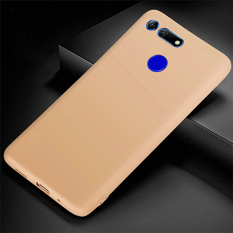 Slim Soft TPU Back Case Shockproof Phone Matte Cover for Huawei V20 - Yellow