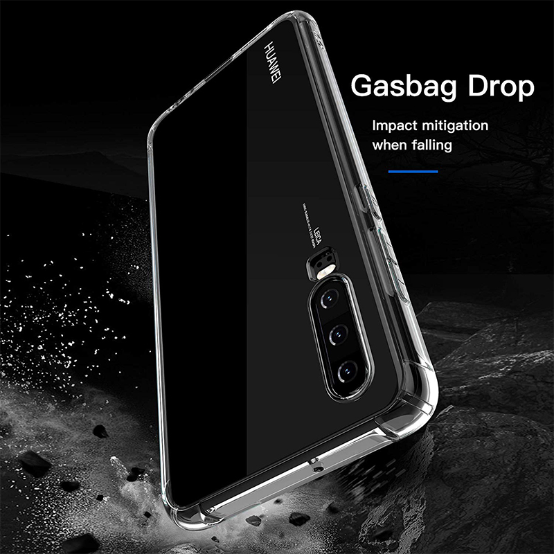Soft TPU Flexible Silicone Thin Clear Protective Phone Case for Huawei P30