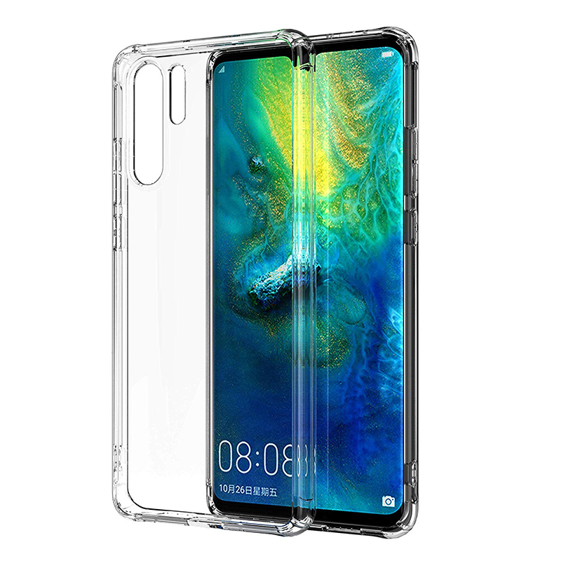 Soft TPU Flexible Silicone Thin Clear Protective Phone Case for Huawei P30 Pro