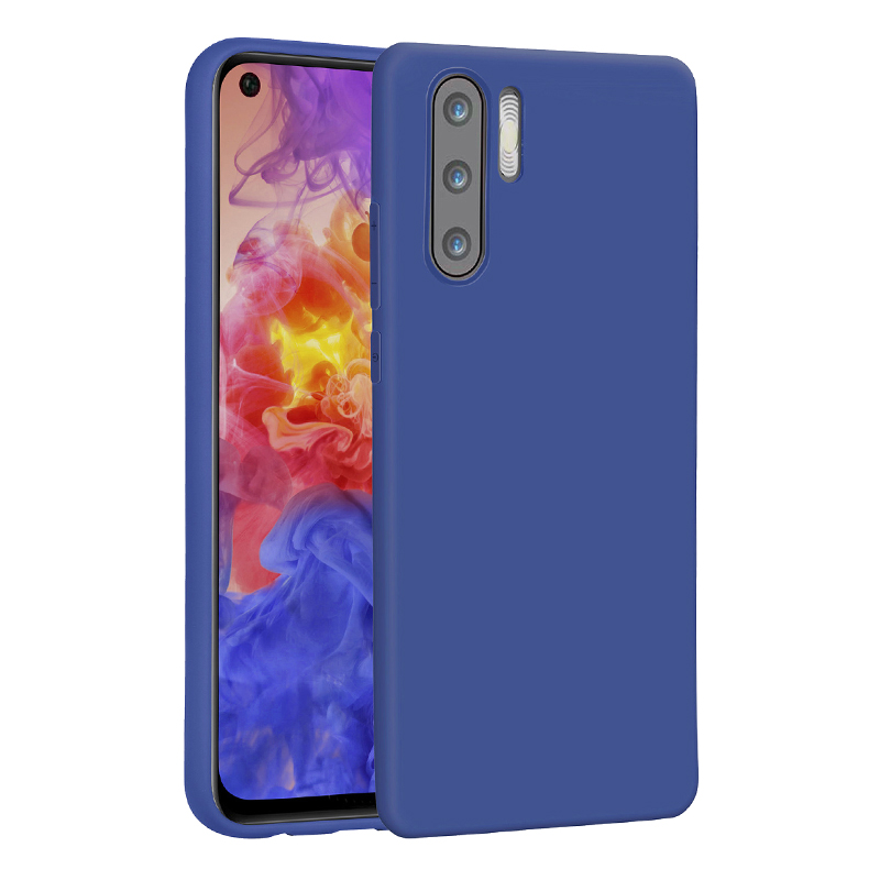 Matte Texture Soft TPU Back Case Phone Cover for Huawei P30 Pro - Blue