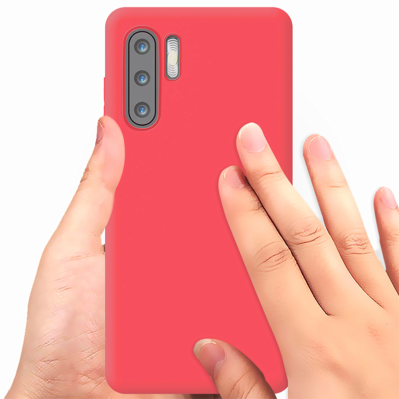 Matte Texture Soft TPU Back Case Phone Cover for Huawei P30 Pro - Red