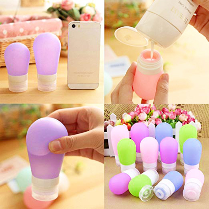 60ml Portable Silicone Travel Lotion Shampoo Shower Gel Storage Sub-Bottles - Pink