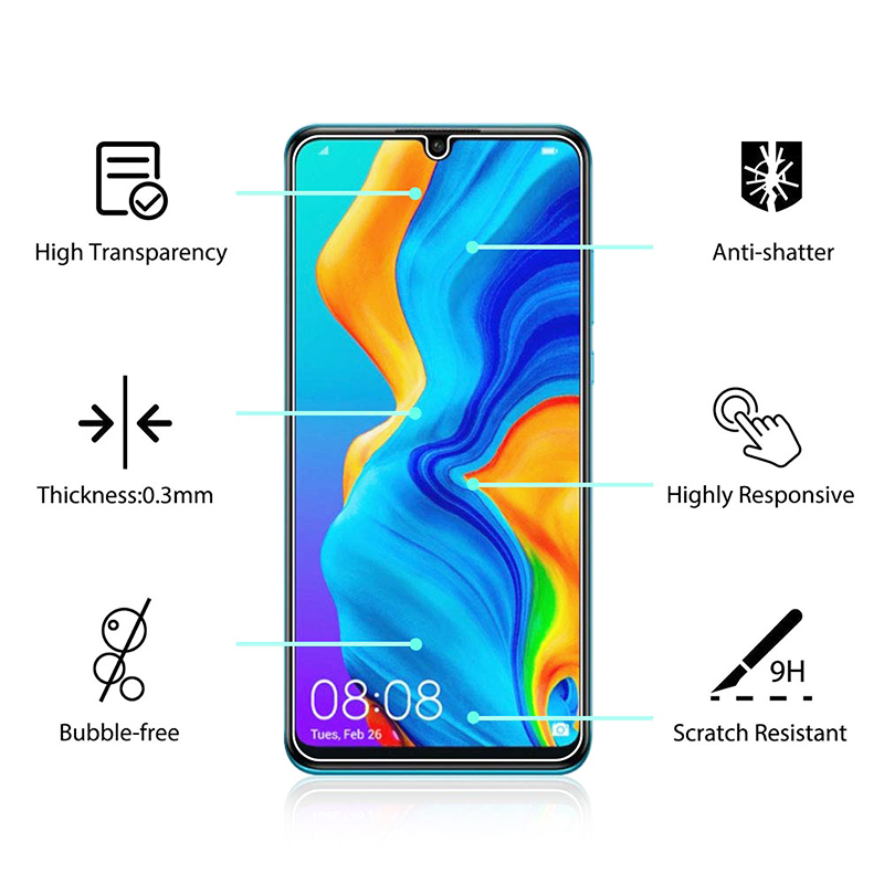 Professional Tempered Glass Screen Protector Ultra Thin Screen Guard Film for Huawei P30