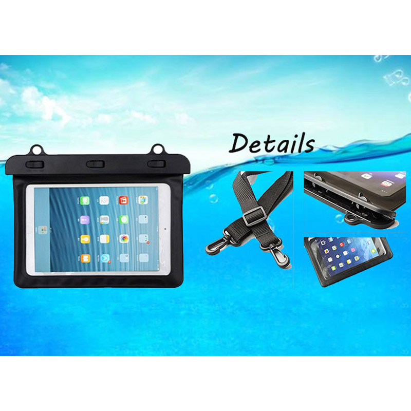 7-8 inches Mini Tablet Waterproof Bag Cover Water Resistance Pouch Case - Black