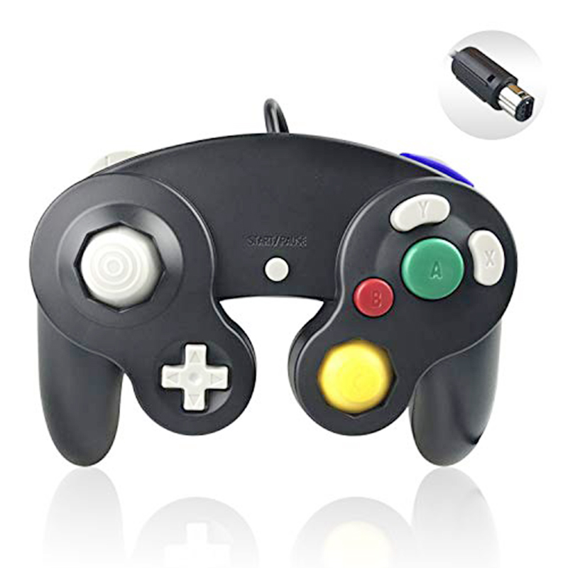 NGC Classic Wired Controller Compatible with Nintendo Gamecube Wii Video Game Console - Black