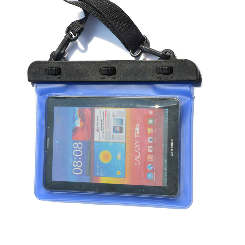 7-8 inches Mini Tablet Waterproof Bag Cover Water Resistance Pouch Case - Blue