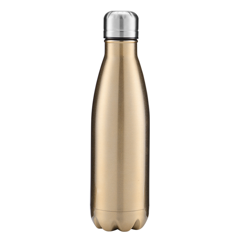 750ML Stainless Steel Vacuum Insulated Water Bottle Leak-proof Double Walled Drinks Bottle - Bright Gold