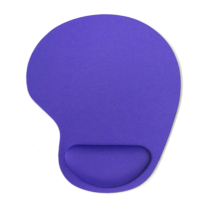 Comfortable Memory Foam Mouse Pad with Wrist Rest Support for PC Laptop Computer - Purple