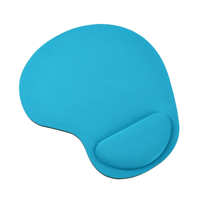Comfortable Memory Foam Mouse Pad with Wrist Rest Support for PC Laptop Computer - Sky Blue