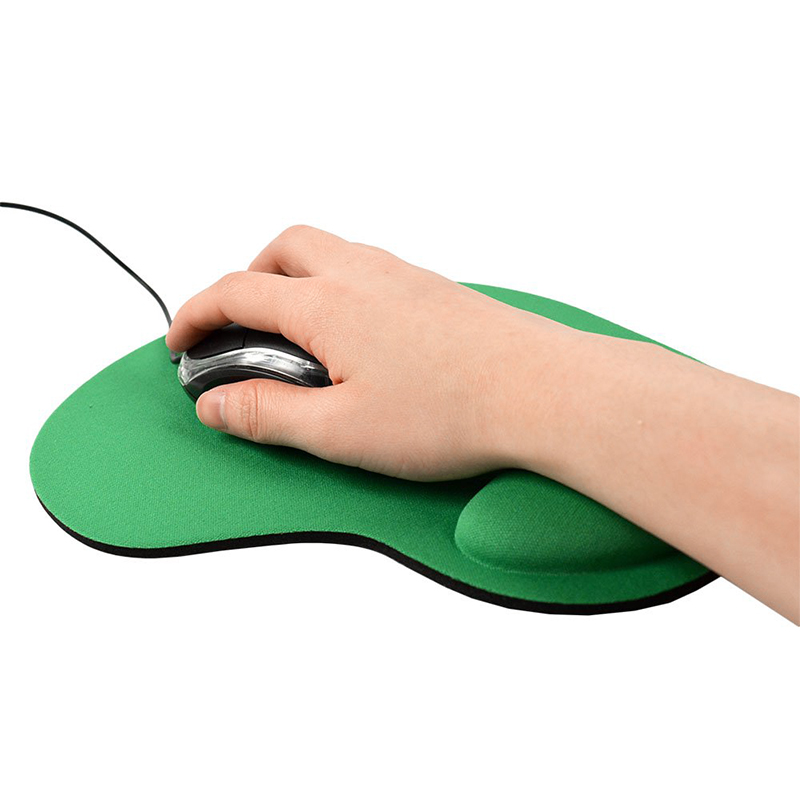 Comfortable Memory Foam Mouse Pad with Wrist Rest Support for PC Laptop Computer - Green