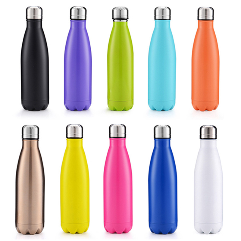 500ML Water Flask Stainless Steel Double Wall Vacuum Insulated Water Bottle - Matte Green