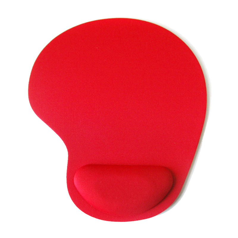 Comfortable Memory Foam Mouse Pad with Wrist Rest Support for PC Laptop Computer - Red