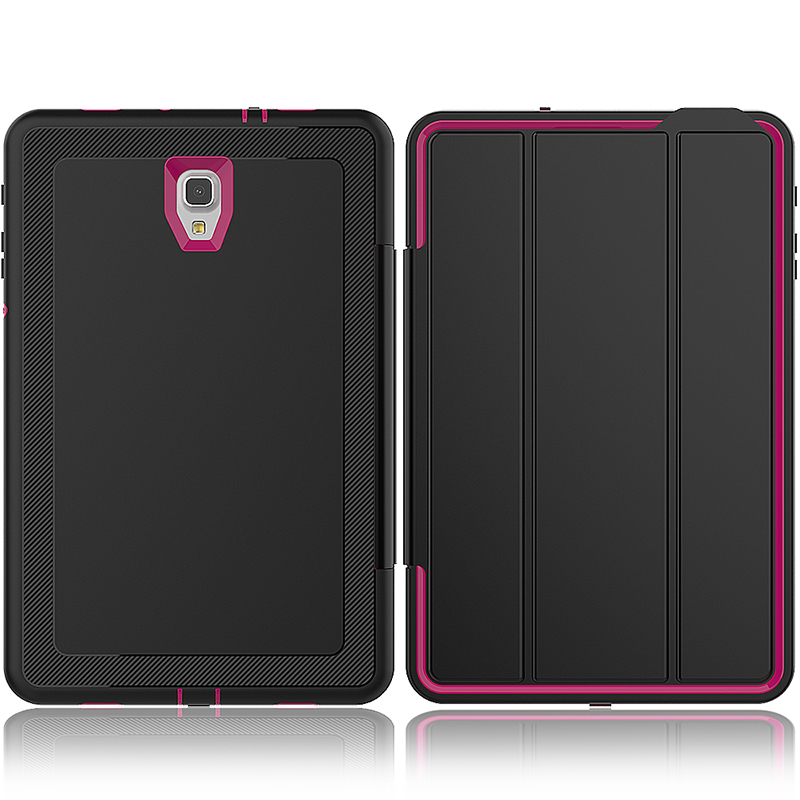 Smart Magnetic Auto Sleep Wake Protective Case Cover with Kickstand for Samsung Galaxy Tab A 10.5 - Hot Pink