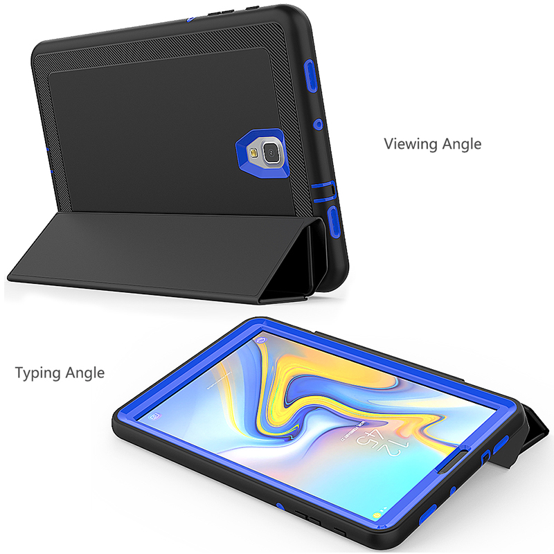 Smart Magnetic Auto Sleep Wake Protective Case Cover with Kickstand for Samsung Galaxy Tab A 10.5 inch - Blue