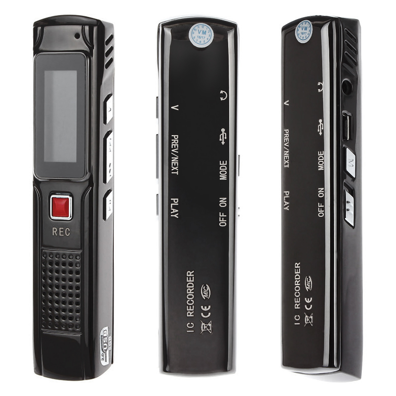 8G Voice Audio Recorder MP3 Player Playback Digital Sound Recorder Pen