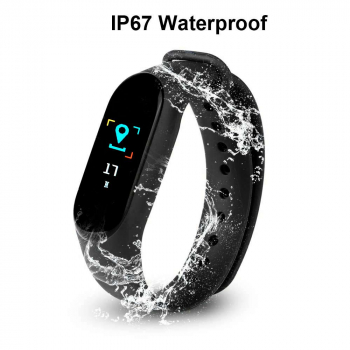 Bluetooth Smart Watch Heart Rate Blood Pressure Monitor Fitness Tracker Bracelet - Black
