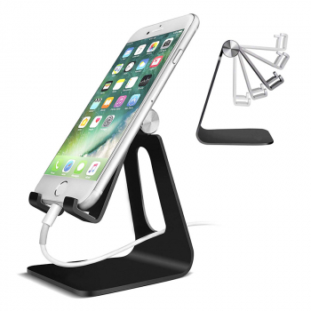 Magical Foldable Adjustable Universal Cellphone Stand Desktop Holder for Cellphone Tablet - Black