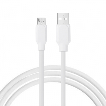 1m Soft TPE Micro USB Android Charging Cable for Samsung Huawei Mobile Phone Android Cellphone - White