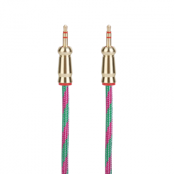 Aux Cable Car Headphones 3.5mm to 3.5mm Jack Audio Braided Cable Speaker Cable 2m - Green