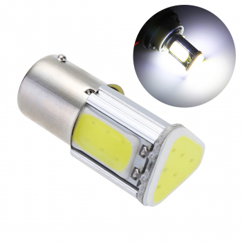 12V 1156 COB LED 5W Car Turn Signal Reverse Back Light Bulb Brake Light Tail Light - White