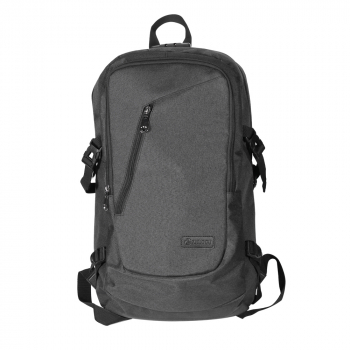 Mens Womens Laptop Backpack Rucksack Work Travel School Bags with USB Charging Port Headphone Jack - Grey