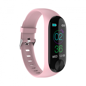 Y10 Sport Waterproof Smart Bracelet Blood Pressure Heart Rate Measurement Fitness Tracker Pedometer - Pink