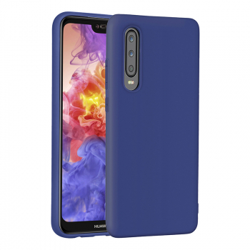 Soft TPU Matte Hand Feel Back Case Cellphone Cover for Huawei P30 - Blue