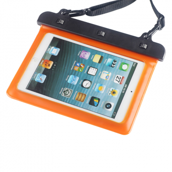 7-8 inches Mini Tablet Waterproof Bag Cover Water Resistance Pouch Case - Orange