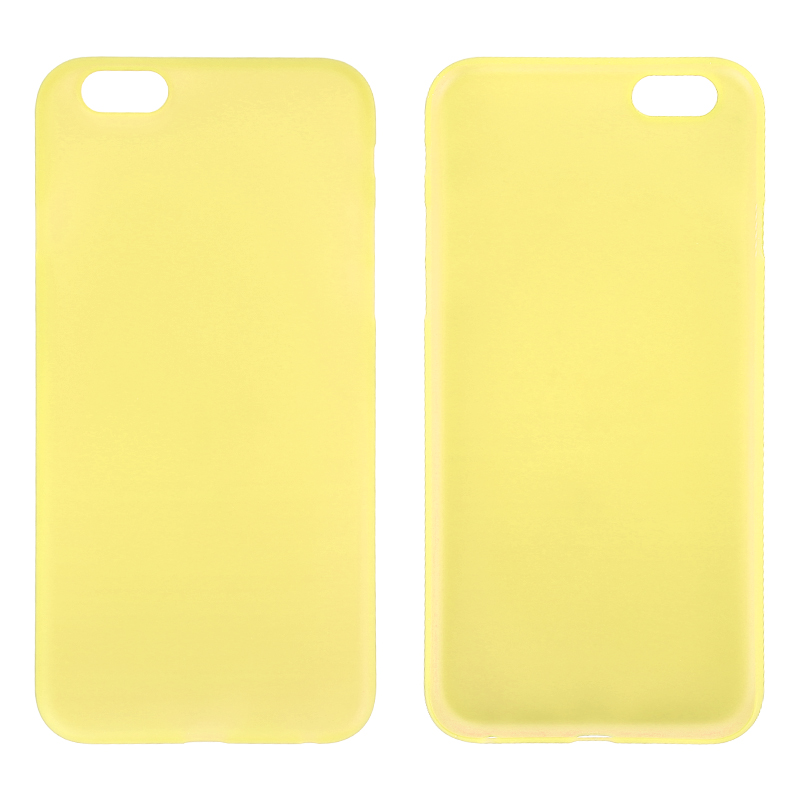 Newest PC Frosted Back Cover Ultra Thin Shell Case for iPhone 6 - Yellow