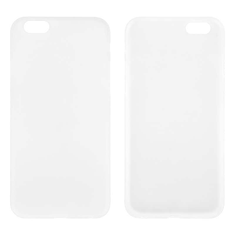 Newest PC Frosted Back Cover Ultra Thin Shell Case for iPhone 6 - Transparent