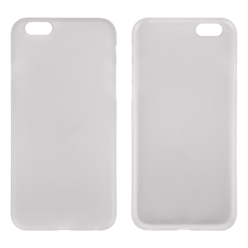 Newest PC Frosted Back Cover Ultra Thin Shell Case for iPhone 6- Gray