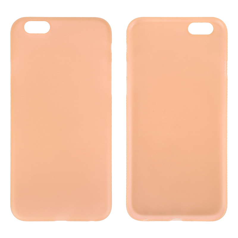 Newest PC Frosted Back Cover Ultra Thin Shell Case for iPhone 6 - Orange