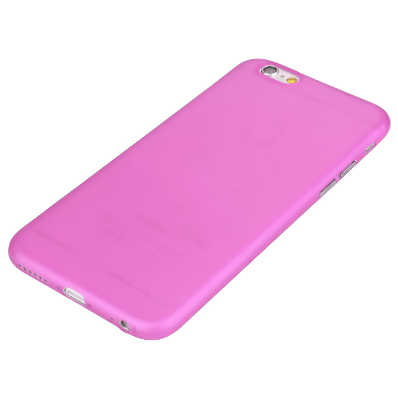 Hard PC Frosted Back Cover Ultra Thin Shell Case for iPhone 6 - Rose Red