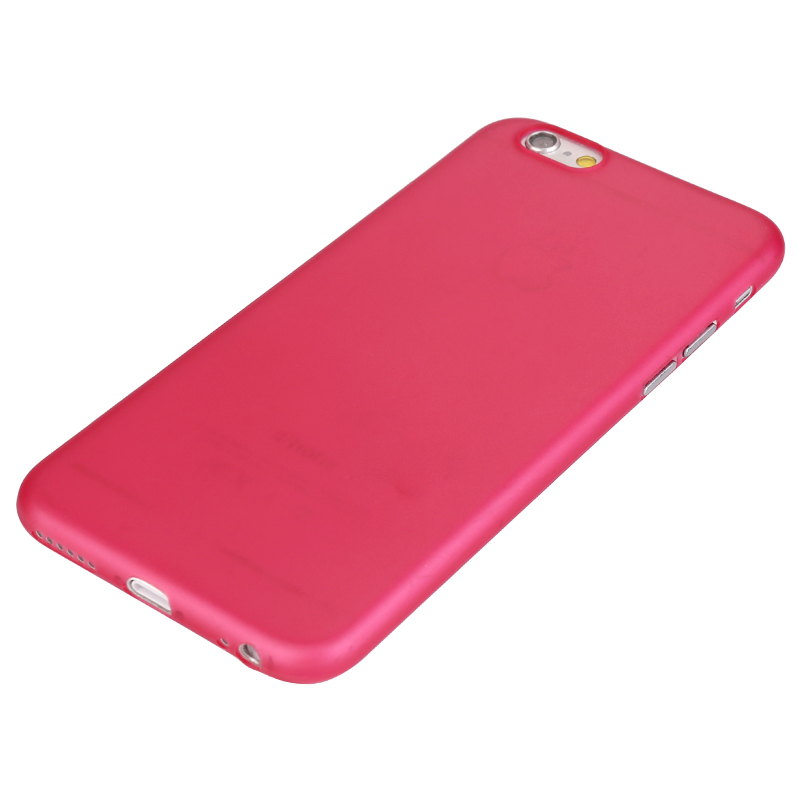 Newest PC Frosted Back Cover Ultra Thin Shell Case for 5.5 Inch iPhone 6 Plus- Red